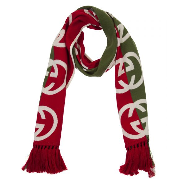 Gucci Two Toned Interlocking G Scarf