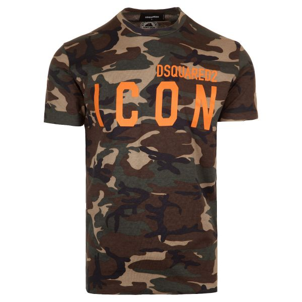 DSquared2 Camouflage Icon Logo Print T-Shirt