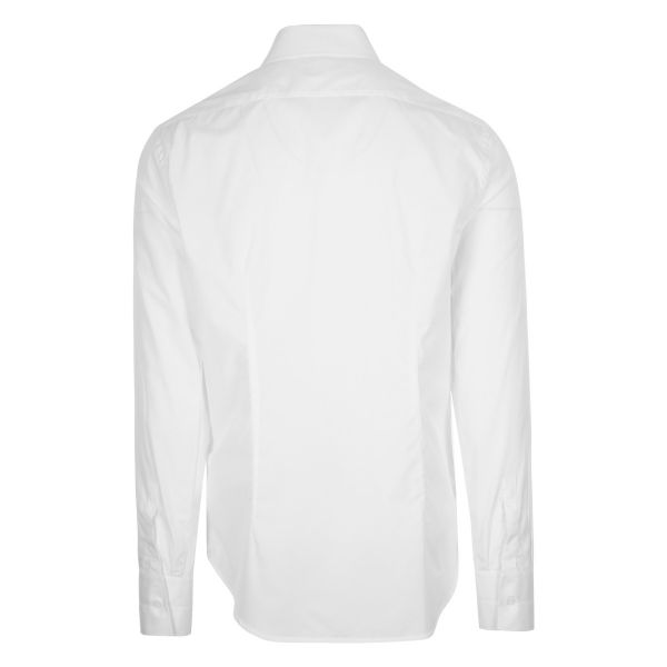 Off White Embroidered Hands Off Logo Shirt