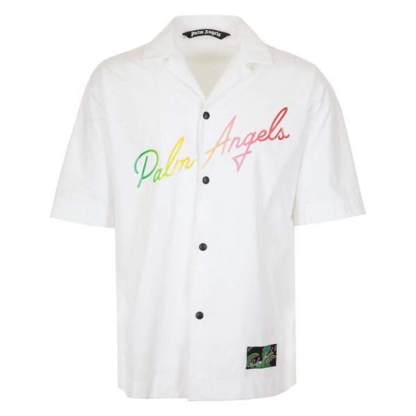 Palm Angels Rainbow Lettering Logo Shirt
