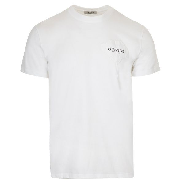 Valentino Logo Floral Patch T-Shirt