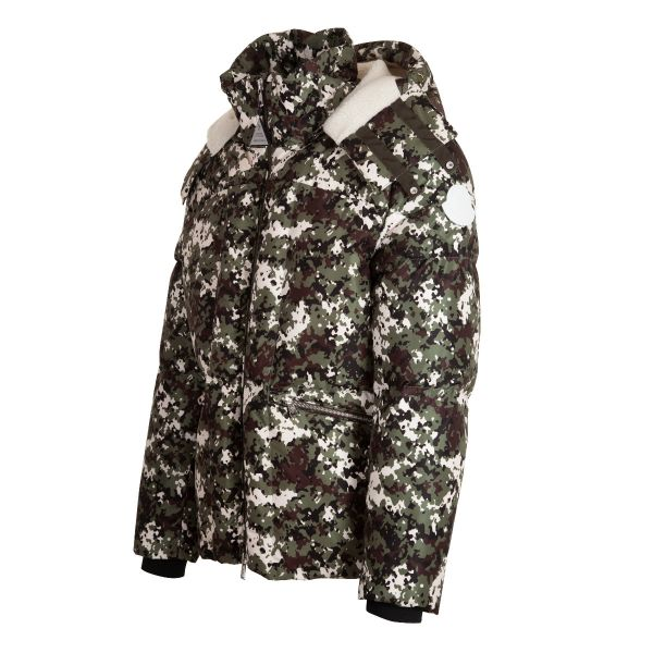 Moncler Blanc Camouflage Print Down Jacket